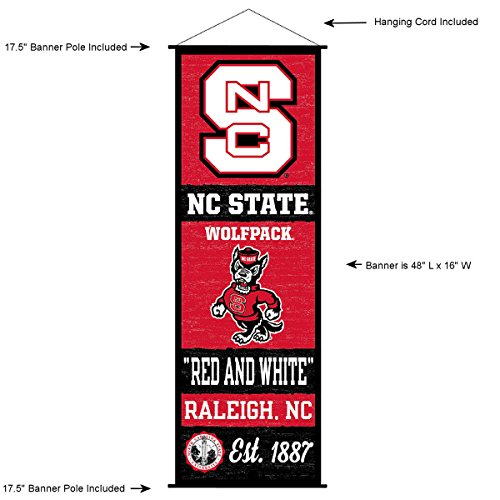 North Carolina State Wolfpack Banner and Scroll Sign
