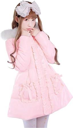 Womens Girls Lolita Ruffles Cloak Coat Gothic Retro Japanese Cape Hooded Jackets
