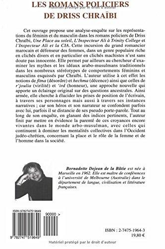Les Romans Policiers De Driss Chraibi Representations Du