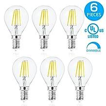 LVWIT G45 LED Filament Bulb 4W Dimmable LED Vintage Edison Bulb E12 Base 3000K Warm White LED Light Bulbs 40 Watt Incandescent Bulbs Equivalent 6 Pack
