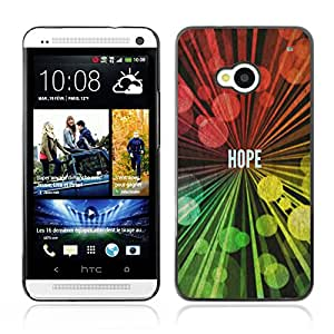 DREAMCASE Bible Quotes ( NOT HTC ONE MINI M4) Hard Bumper Back Protection Case Cover For HTC ONE M7 - HOPE
