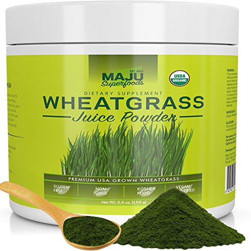 Organic Wheatgrass Juice Powder: Grown in Volcanic Soil, No High Temperatures Used, Non-GMO, Instant Juice Powder, Simply The Best on Earth
