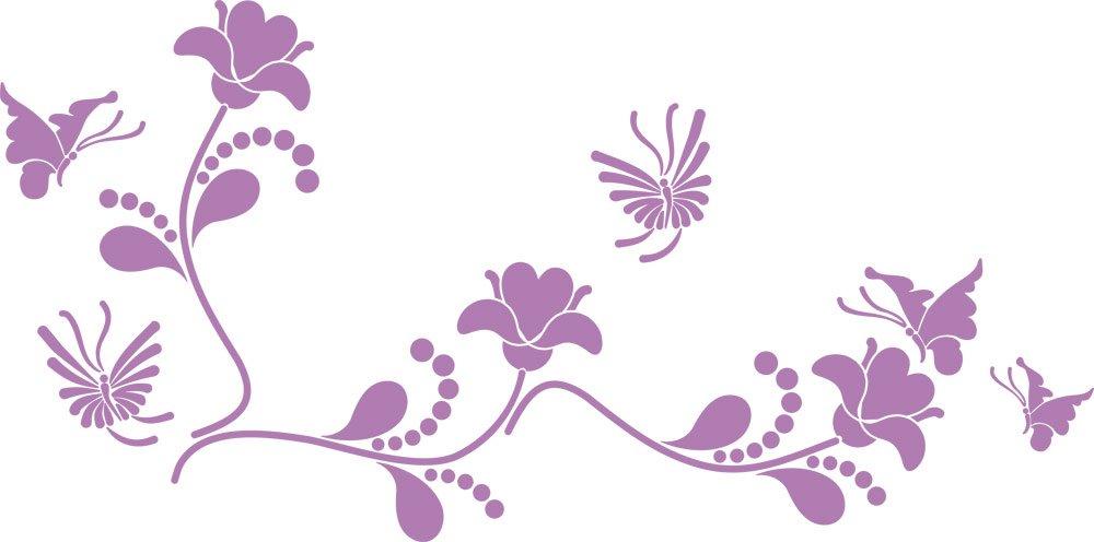 GRAZDesign Wall Tattoo Blaumen - Wanddekoration Wandtattoo Wandtattoo Wandtattoo Ornament - Wanddeko Wandtattoo Blaumenranke - Wandtattoo Schmetterling   101x50cm   azurblau   850109_50_052 B07FGG5VD3 Wandtattoos & Wandbilder a109f3
