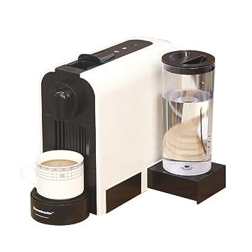 Máquina cápsula de café Nespresso con depósito de agua de 0,8 litros, 1850 vatios, 19 bar de presión de la bomba, blanco, tamaño reducido: Amazon.es: Hogar