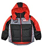 Marvel Avengers Little Boys' Black & Red Color Puffer Coat, 5