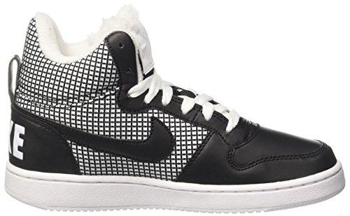 Nike Court Borough Mid Se, Chaussures de Basketball Femme Blanc Cassé (Whiteblack)