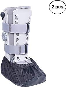 VXAR Fracture Walking Boot Shoe Cover Cast Black S