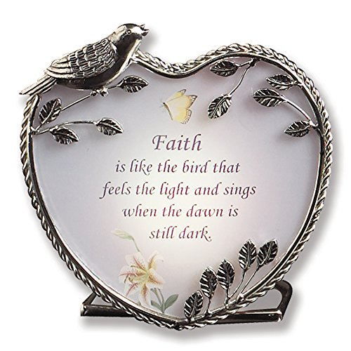 Banberry Designs Faith Candle Holder Inspirational Message - 4 Inch by Banberry Designs