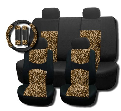 black and cheetah car seat covers - 6