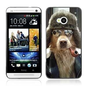 YOYOSHOP [Cool Dog, Pipe & Sunglasses] HTC One M7 Case