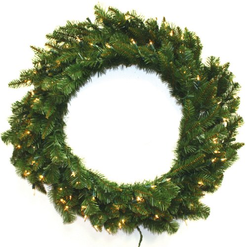 Special Happy Corp LTD 96766 Wreath Allegheny Fir 100 Clear Lights 210 Tips, 36-Inch
