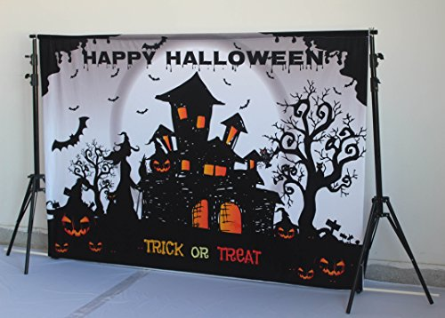Kate 7x5ft/2.2x1.5m Happy Halloween Photography Backdrops Black Castle Photo Background Pumpkin Photo Booth Seamless