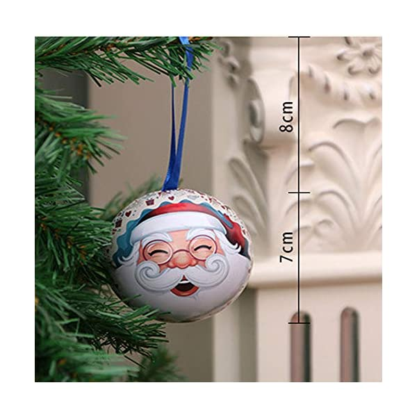 Amasawa 6 Pezzi Palle di Natale, Decorazioni per Alberi di Natale, Decorazioni Natalizie,Candy Can, 2,7 Pollici / 7 cm Tema dell'albero di Natale 3 spesavip