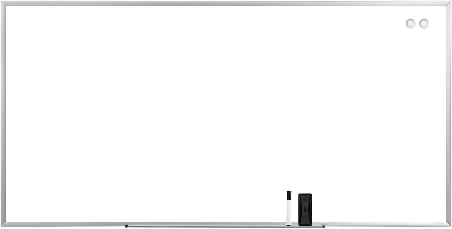 AmazonBasics Magnetic Dry Erase Board, 8'x 4',Aluminum Frame