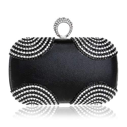 Diamant Sachet À Black Sac De Femme Main Dîner De De De Sac De P6zqww