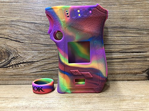 ModShield for Smok MAG 225W TC Right Handed Edition Silicone Case ByJojo Sleeve Cover Shield Wrap Skin (Rainbow)