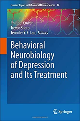Book Behavioral Neurobiology of Depression and Its Treatment (Current Topics in Behavioral Neurosciences)