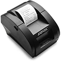 Thermal Printer, USB 58mm POS Thermal Receipt Printer 90mm/sec High-speed Printing with ESC / POS Printing Instruction Set