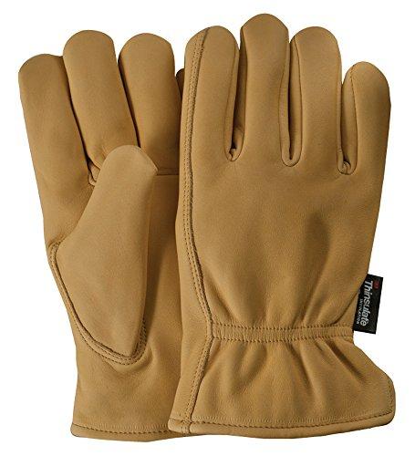 Grain Cowhide Lined Glove - Illinois Glove Company 63 Water Repellent Grain Cowhide Lined Gloves Tan