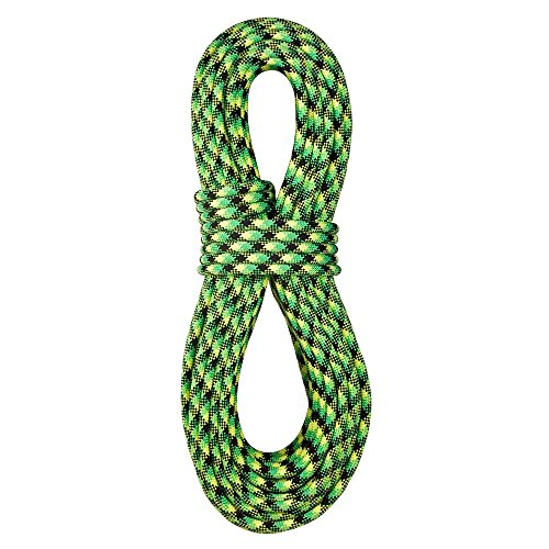 BlueWater Ropes 10.5mm Accelerator Standard Dynamic Single Rope (Neon Green/Black, 50M)