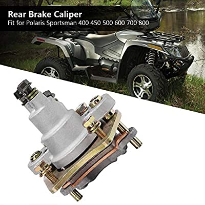 Rear Brake Caliper for 2002-2014 Polaris Sportsman 400 450 500 600 700 800 With Pads: Automotive