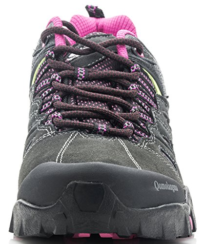 Image of QOMOLANGMA Women's Hiking Shoes Skid-Proof Walking Sneaker For Running Trekking Outdoor Training Grey/Purple 8.5