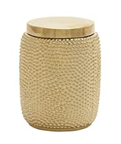 Artistic ceramic gold jar