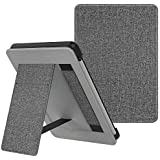 MoKo Case Fits Kindle Paperwhite (10th Gen, 2018 Releases), Lightweight PU Leather Cover Stand Shell with Hand Strap for Amazon Kindle Paperwhite 2018 E-Reader - Gray