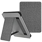 MoKo Case Fits Kindle Paperwhite (10th Generation, 2018 Releases), Lightweight PU Leather Cover Stand Shell with Hand Strap for Amazon Kindle Paperwhite 2018 E-Reader - Gray