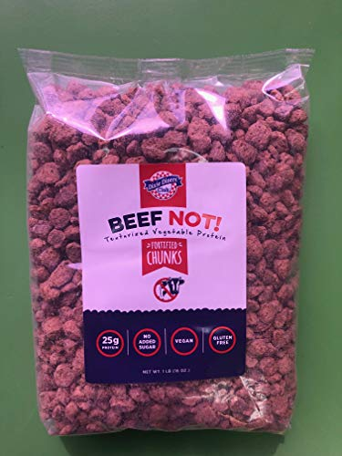 Dixie Carb Counter's Textured Vegan Protein - Perfect and Tasty Soy Based Meat Substitute For Vegans And Vegetarians - Chunk Beef (Not!) - Two 9 Serving Bags (Best Meat Alternatives For Vegetarians)