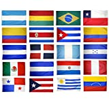 20 Latin American Countries Complete Flag Set (3 ft. x 5 ft.)