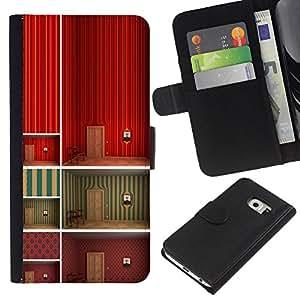 iBinBang / Flip Funda de Cuero Case Cover - Minimalista Wallpaper profundo Diseño - Samsung Galaxy S6 EDGE SM-G925