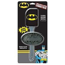 ICUP 15933 DC Batman Spatula Cookie Cutter 2pk, Multicolor