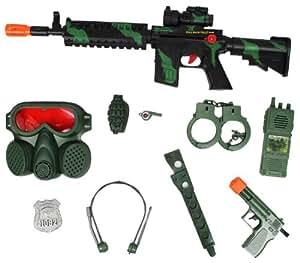 Amazon Com M16 Camo Green Toy Gun Commando Swat Set Toy