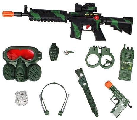 Amazon Com M16 Camo Green Toy Gun Commando Swat Set Toy Guns For