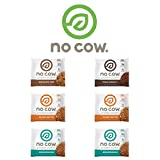 No Cow Protein Cookie, Variety Pack, 12-13g Plant Based Protein, Low Sugar, Dairy Free, Gluten Free, Vegan, 6 Count