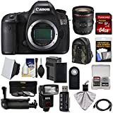 Canon EOS 5DS Digital SLR Camera Body with 24-70mm f/4L IS Lens + 64GB Card + Battery & Charger + Backpack + Grip + Flash + Kit