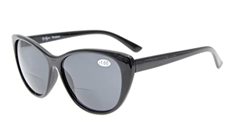 Eyekepper ojo gato Gafas de sol Bipolares para Mujer gris lentes +1.0
