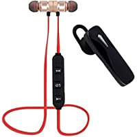 TECHPOOL T1 Bluetooth Headset Stylish Multimedia V4.1 Wireless Headphone with Wireless Bluetooth Earphone with Magnetic Locking Design