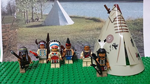 LEGO Native American Indian village minifigures lot. Not a boxed set. - Cheyenne Indian Print