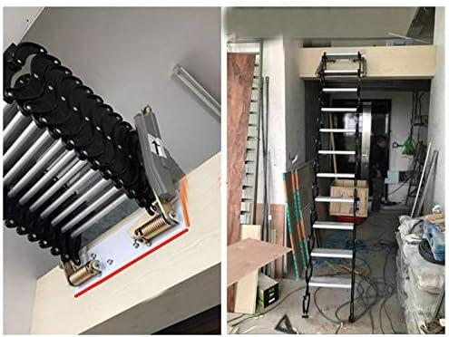Aluminium Dachbodenleiter unsichtbare Falttreppe Multifunktions-Dachbodenleiter 1.5M-3M benutzerdefinierte (Aluminum-magnesium alloy)