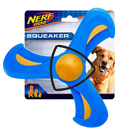 Nerf Dog 9in TPR/Foam Tri-Flyer: Blue/Orange, Dog Toy
