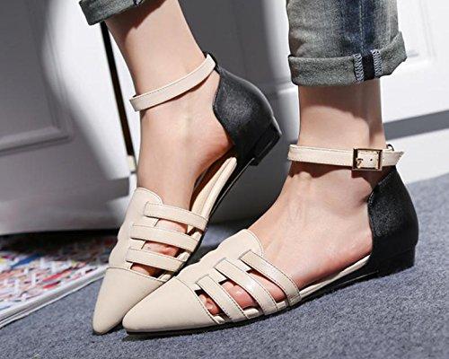 beige donne scarpe sandali basse i nuovi con 's Estate 18xvgpqw8