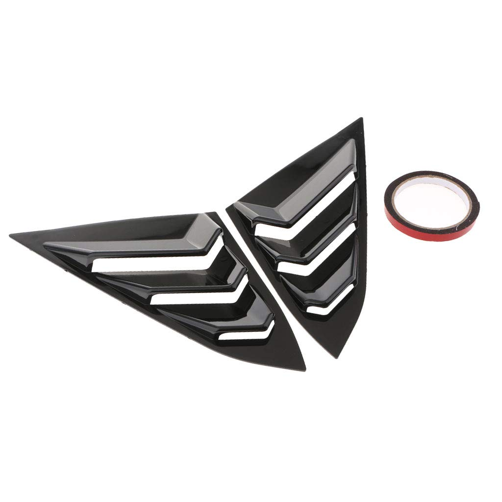 Flameer 2X ABS Car Auto Decorative Intake Scoop Turbo Bonnet Vent Cover Hood for Honda Civic Glossy Black