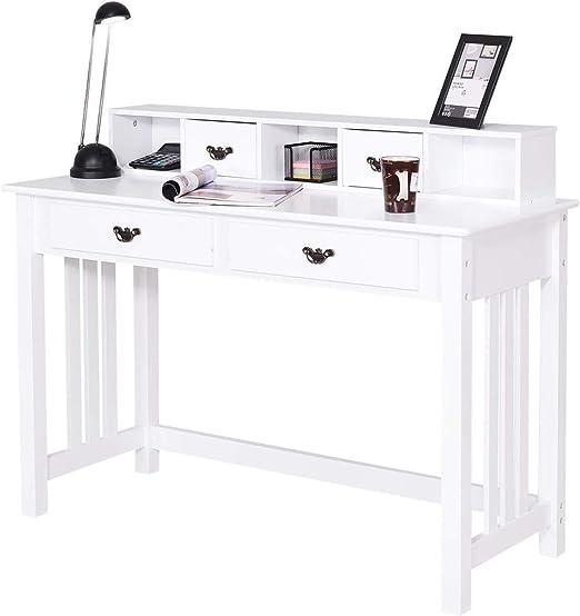 Trustiwood - Mesa de Escritorio para Ordenador, 4 cajones, Mesa de ...