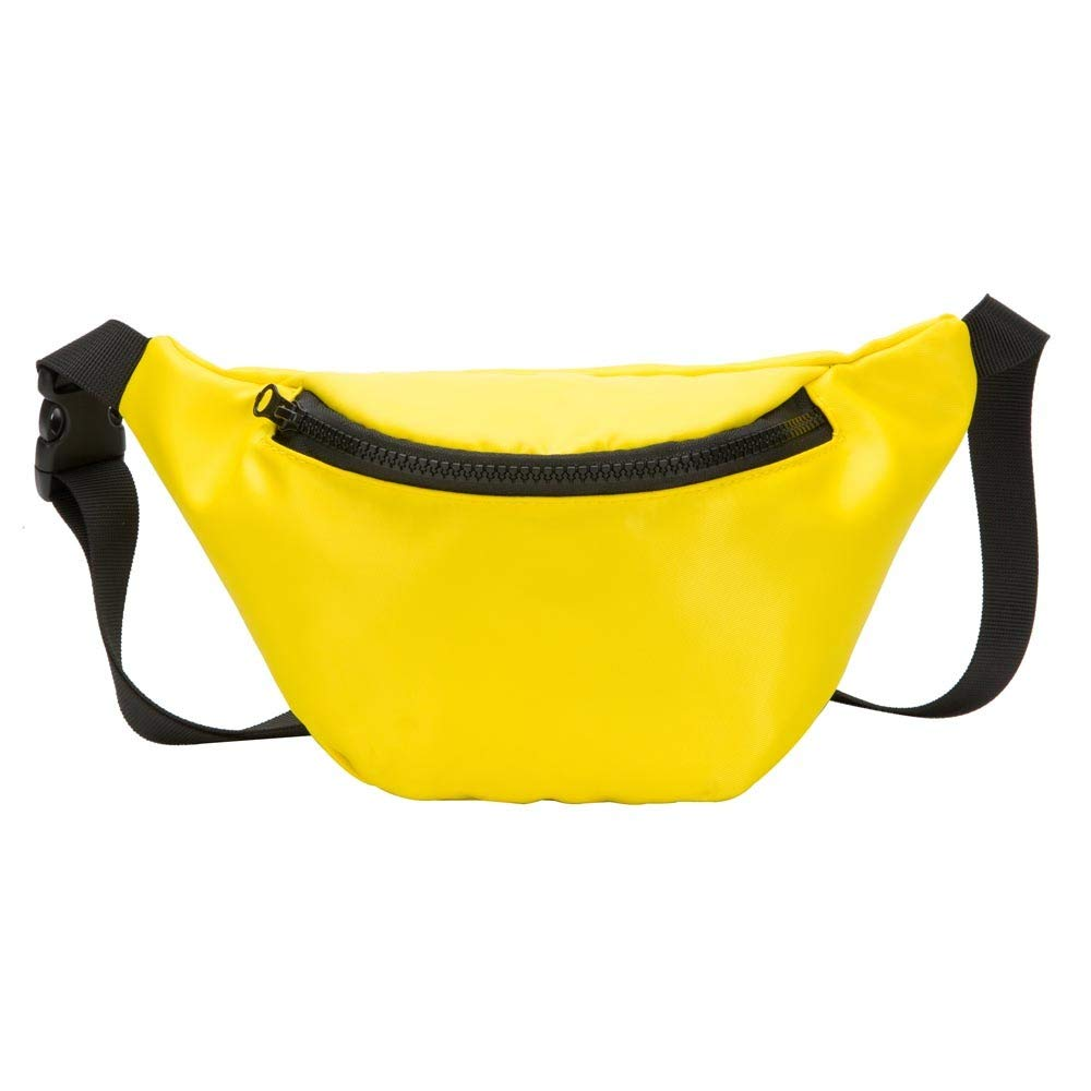 Fashion Children's Bag Waist Bag Chest Bag,Outsta Coin Purse Snack Pack Zipper Fanny Classic Daypack Travel (Yellow) by Outsta Bags (Image #1)