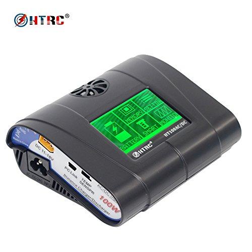 - HTRC RC Balance Charger 100W 10A AC\DC HT106 Touch Screen RC Hobby Balance Charger Discharger for LiPo Li-HV Lilon LiFe NiMH NiCd PB Battery