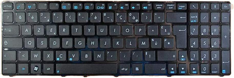 MagiDeal Black FR French Layout Laptop Keyboard Keypad Replace for Asus K73 K73S UX50