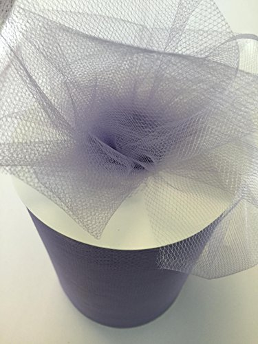 (Tulle Fabric Spool/Roll 6 inch x 100 yards (300 feet), 34 Colors Available, On Sale Now! (lavender))