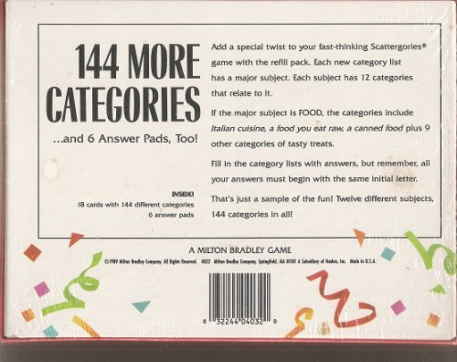 graphic about Scattergories Lists 1 12 Printable identified as Scattergories Refill #1